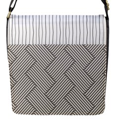 Lines and stripes patterns Flap Messenger Bag (S)