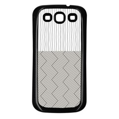 Lines and stripes patterns Samsung Galaxy S3 Back Case (Black)