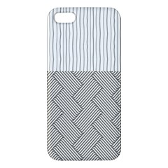 Lines and stripes patterns iPhone 5S/ SE Premium Hardshell Case