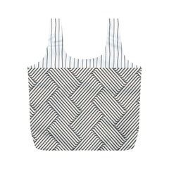 Lines and stripes patterns Full Print Recycle Bags (M)