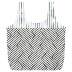 Lines and stripes patterns Full Print Recycle Bags (L)