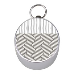 Lines and stripes patterns Mini Silver Compasses