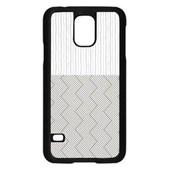 Lines and stripes patterns Samsung Galaxy S5 Case (Black)