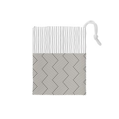 Lines and stripes patterns Drawstring Pouches (Small)