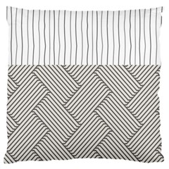 Lines and stripes patterns Large Flano Cushion Case (Two Sides)