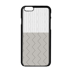 Lines and stripes patterns Apple iPhone 6/6S Black Enamel Case