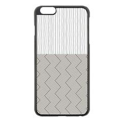 Lines and stripes patterns Apple iPhone 6 Plus/6S Plus Black Enamel Case