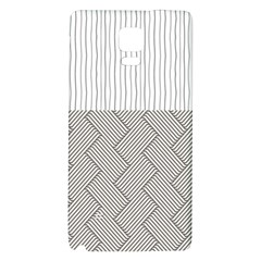 Lines and stripes patterns Galaxy Note 4 Back Case