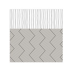 Lines and stripes patterns Small Satin Scarf (Square)