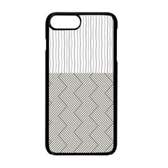 Lines And Stripes Patterns Apple Iphone 7 Plus Seamless Case (black)