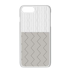 Lines And Stripes Patterns Apple Iphone 7 Plus White Seamless Case