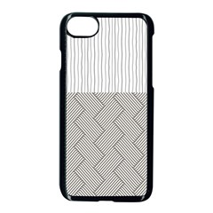 Lines And Stripes Patterns Apple Iphone 7 Seamless Case (black)