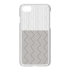 Lines And Stripes Patterns Apple Iphone 7 Seamless Case (white)