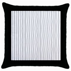 Hand drawn lines pattern Throw Pillow Case (Black)