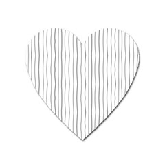 Hand drawn lines pattern Heart Magnet