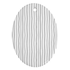 Hand Drawn Lines Pattern Oval Ornament (two Sides)