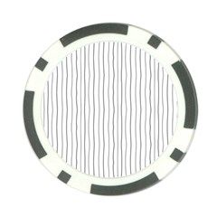 Hand drawn lines pattern Poker Chip Card Guard