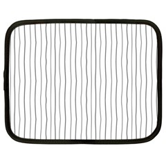 Hand drawn lines pattern Netbook Case (Large)