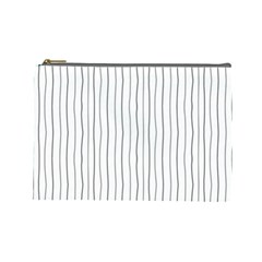 Hand drawn lines pattern Cosmetic Bag (Large)