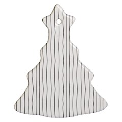 Hand drawn lines pattern Christmas Tree Ornament (Two Sides)