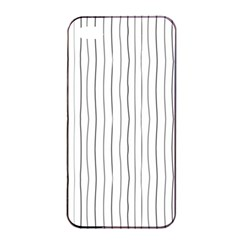 Hand drawn lines pattern Apple iPhone 4/4s Seamless Case (Black)