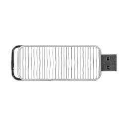 Hand drawn lines pattern Portable USB Flash (One Side)