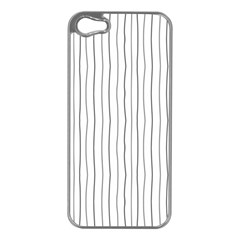Hand drawn lines pattern Apple iPhone 5 Case (Silver)