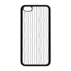 Hand drawn lines pattern Apple iPhone 5C Seamless Case (Black)