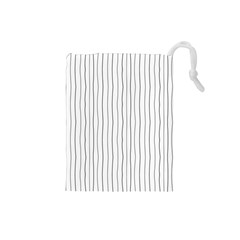 Hand drawn lines pattern Drawstring Pouches (Small)