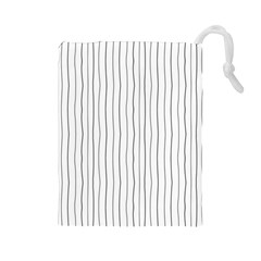 Hand drawn lines pattern Drawstring Pouches (Large)