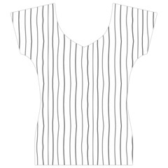 Hand drawn lines pattern Women s V-Neck Cap Sleeve Top