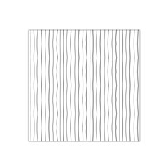 Hand drawn lines pattern Satin Bandana Scarf
