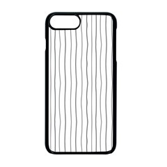 Hand Drawn Lines Pattern Apple Iphone 7 Plus Seamless Case (black)