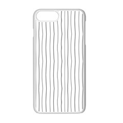 Hand Drawn Lines Pattern Apple Iphone 7 Plus White Seamless Case