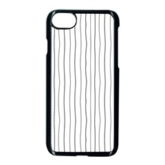 Hand Drawn Lines Pattern Apple Iphone 7 Seamless Case (black)