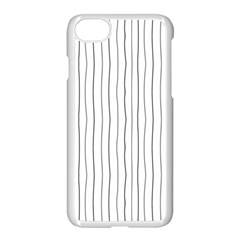 Hand Drawn Lines Pattern Apple Iphone 7 Seamless Case (white)