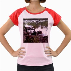 Treeing Walker Coonhound In Water Women s Cap Sleeve T-Shirt