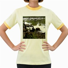 Treeing Walker Coonhound In Water Women s Fitted Ringer T-Shirts