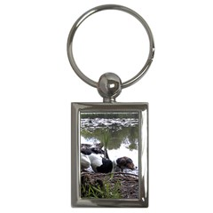 Treeing Walker Coonhound In Water Key Chains (Rectangle)
