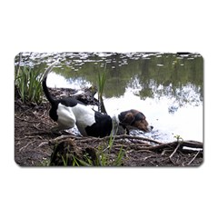 Treeing Walker Coonhound In Water Magnet (Rectangular)