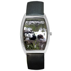 Treeing Walker Coonhound In Water Barrel Style Metal Watch