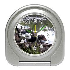 Treeing Walker Coonhound In Water Travel Alarm Clocks