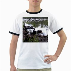 Treeing Walker Coonhound In Water Ringer T-Shirts