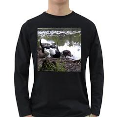 Treeing Walker Coonhound In Water Long Sleeve Dark T-Shirts