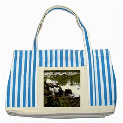 Treeing Walker Coonhound In Water Striped Blue Tote Bag