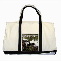 Treeing Walker Coonhound In Water Two Tone Tote Bag