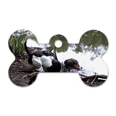 Treeing Walker Coonhound In Water Dog Tag Bone (Two Sides)