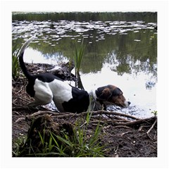 Treeing Walker Coonhound In Water Medium Glasses Cloth (2-Side)
