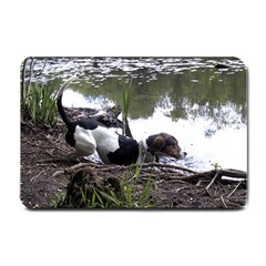Treeing Walker Coonhound In Water Small Doormat