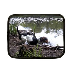 Treeing Walker Coonhound In Water Netbook Case (Small)